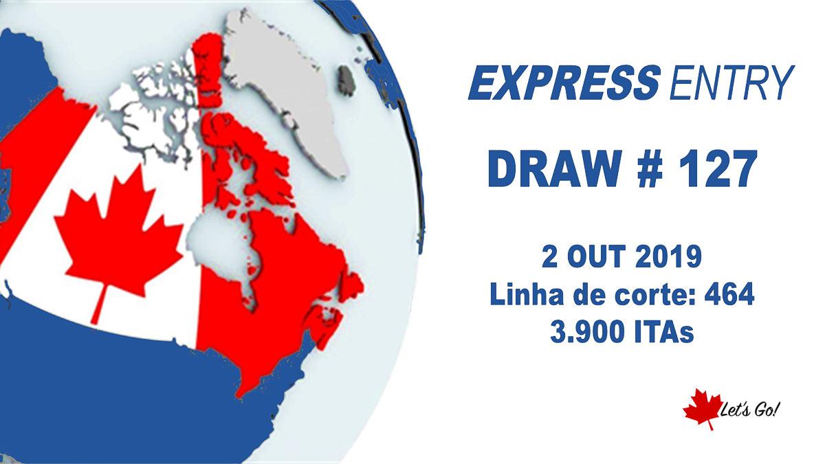 Canadá convida 3.900 famílias para se candidatarem à residência permanente no draw #127 do Express Entry
