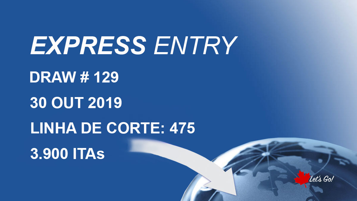 CANADÁ – Express Entry: 3.900 convites para residência permanente emitidos em 30 de outubro; CRS sobe para 475. Entenda o motivo.