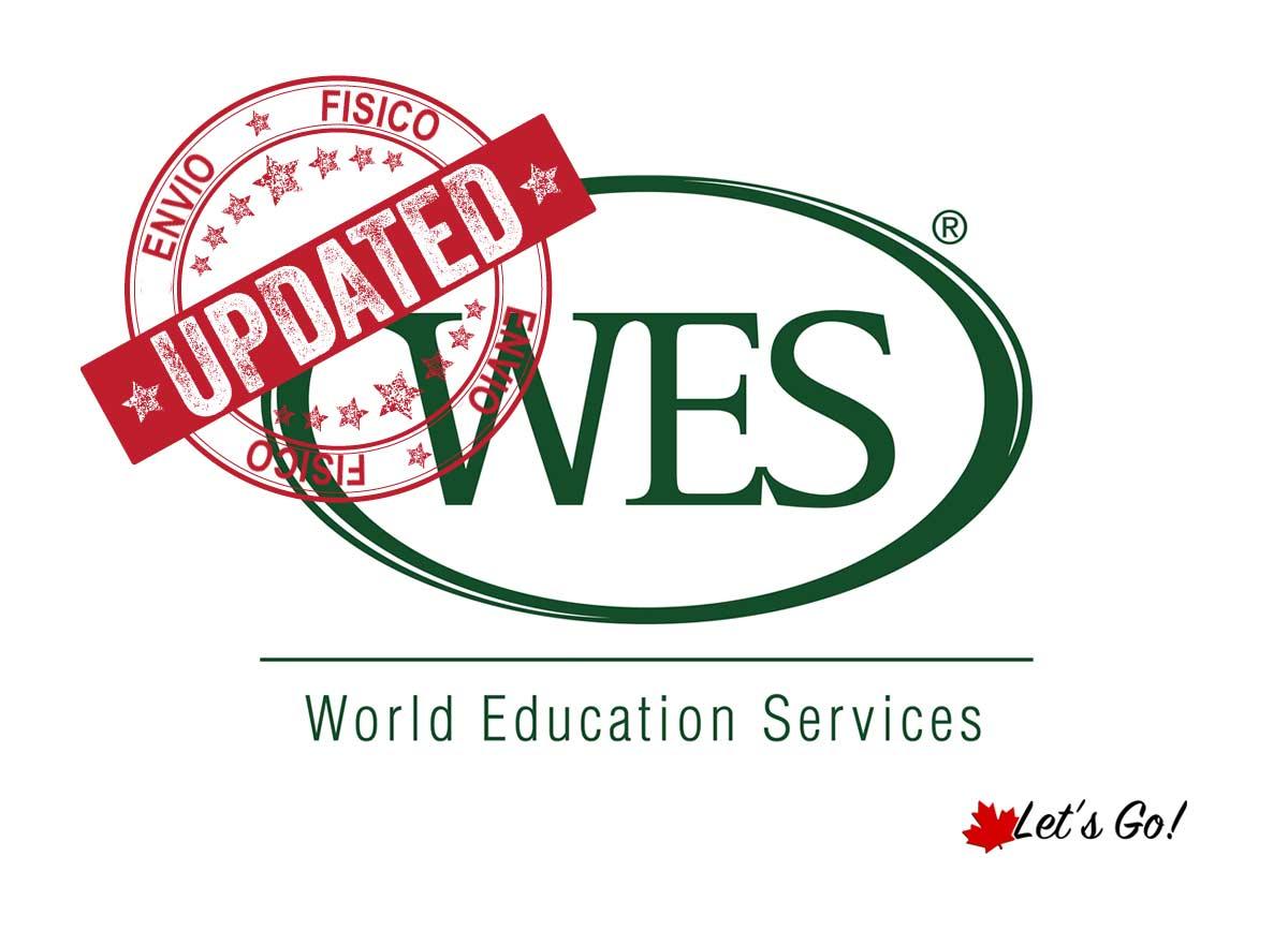 Envio físico de documentos para o WES